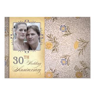 30th wedding anniversary colorful photo invites
