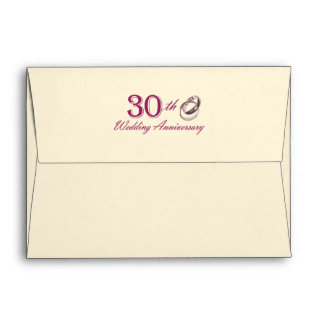 30th Wedding Anniversary Customizable Envelopes