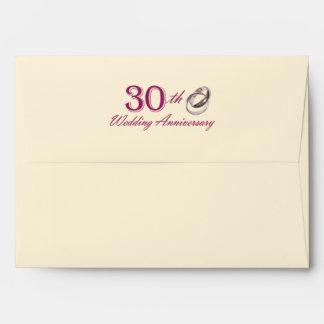 30th Wedding Anniversary Customizable Envelopes