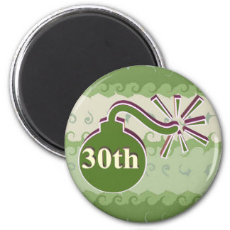 30th Wedding Anniversary Gifts 2 Inch Round Magnet