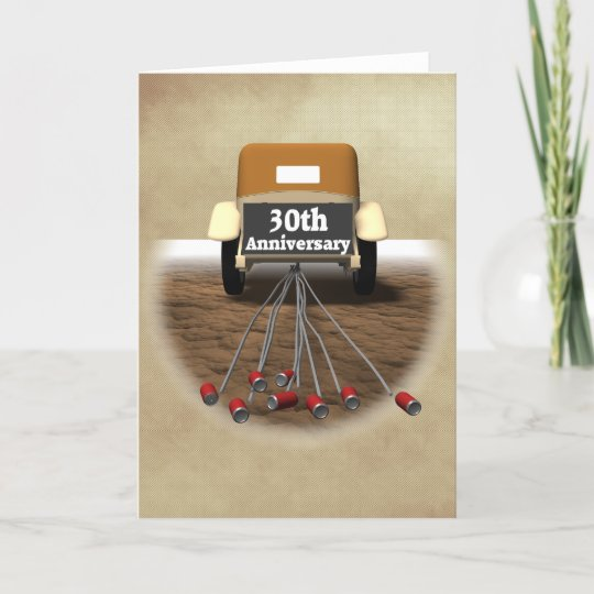 30th Wedding Anniversary Gifts Card Zazzle