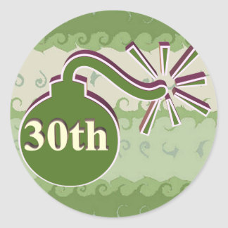 30th Wedding Anniversary Gifts Classic Round Sticker