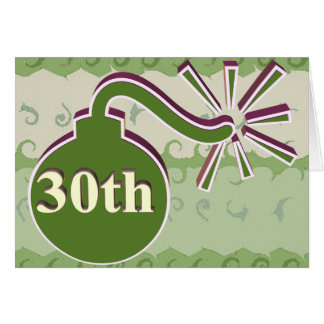 30th Wedding Anniversary Gifts Greeting Card
