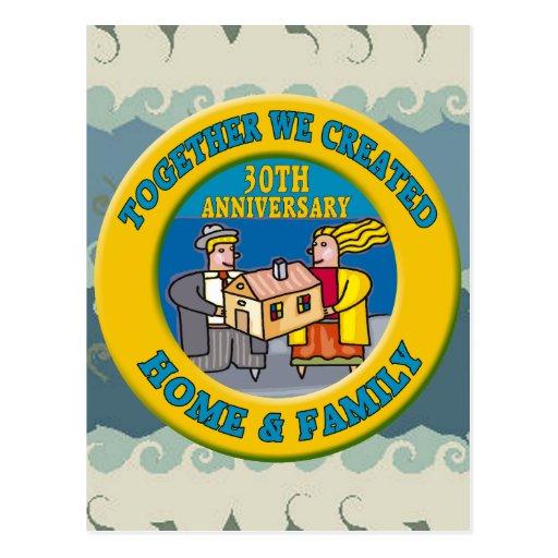 30th Wedding Anniversary: 30th Wedding Anniversary Gifts Postcard