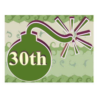 30th Wedding Anniversary Gifts Postcard