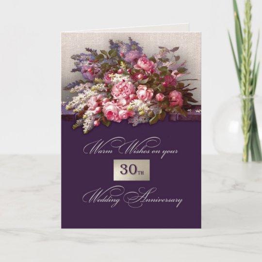 30th wedding anniversary greeting cards zazzle 30th wedding anniversary greeting cards m4hsunfo