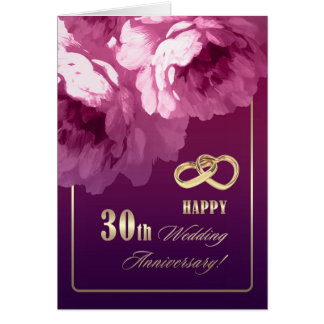 Thirtieth wedding anniversary