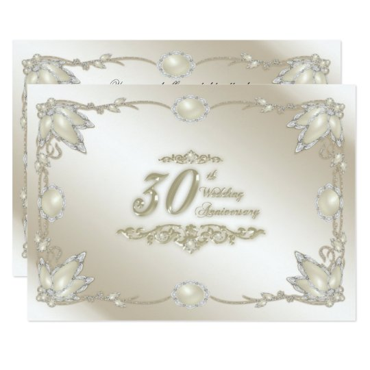 30 Wedding Anniversary Ideas: 30th Wedding Anniversary Invitation