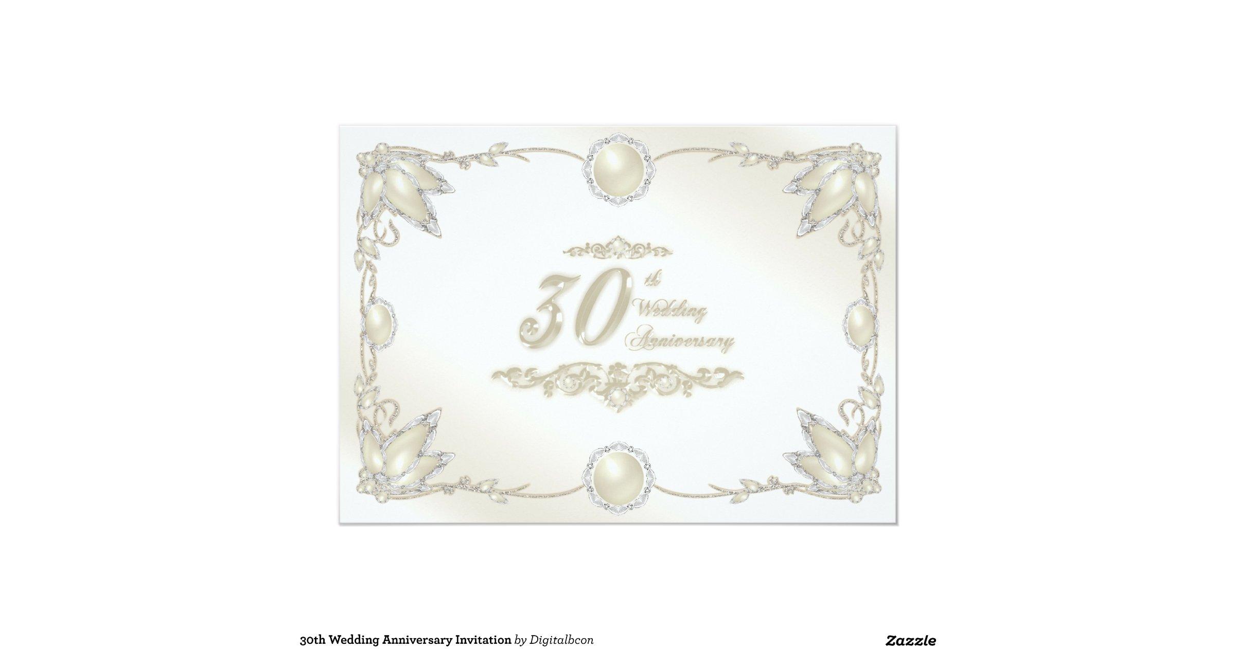30th wedding anniversary invitations - 28 images - 800 30th wedding ...