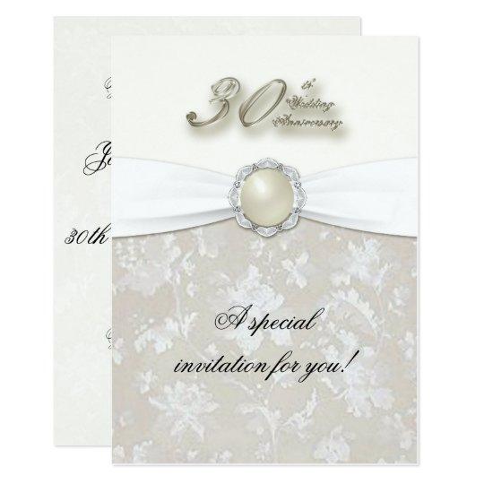30th Wedding Anniversary: 30th Wedding Anniversary Invitation