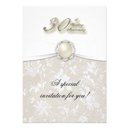 30th Wedding Anniversary Invitation 5 X 7 Invitation Card
