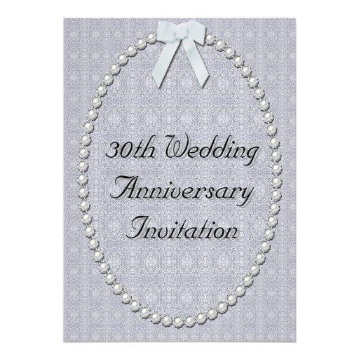 30th Wedding Anniversary: 30th Wedding Anniversary Invitation 13 Cm X 18 Cm