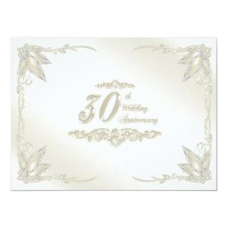 "30th Wedding Anniversary Invitation 6.5"" X 8.75"" Invitation Card"