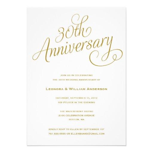 30TH | WEDDING ANNIVERSARY INVITATIONS from Zazzle.com