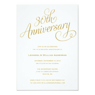 30th anniversary wedding invitations zazzle 30th wedding anniversary invitations stopboris Image collections