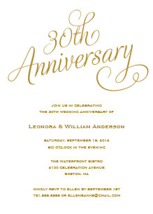 30th anniversary wedding invitations zazzle