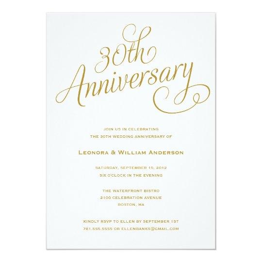30th wedding anniversary invitations zazzle com