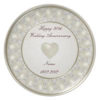30th Wedding Anniversary Melamine Plate