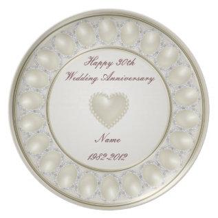 30th Wedding Anniversary Melamine Plate at Zazzle