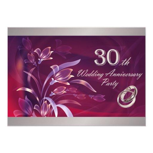 30th Wedding Anniversary Party Invitations | Zazzle