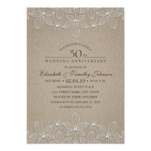 pearl anniversary 5x7 wedding invitations zazzle