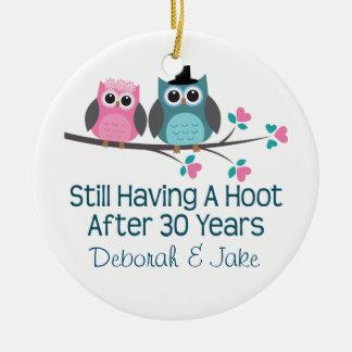 30th Wedding Anniversary Personalized Gift Idea Ornaments