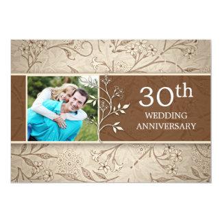 30th wedding anniversary photo invitations