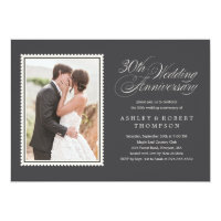 30th Wedding Anniversary Photo Invitations