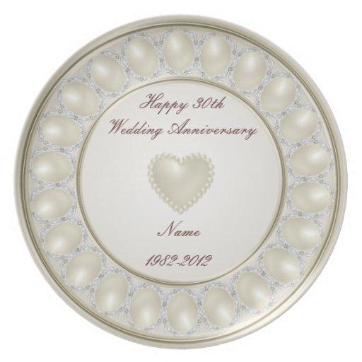 30th Wedding Anniversary Plate Zazzle