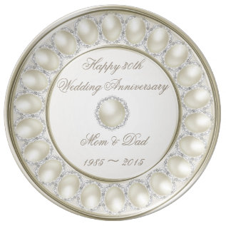 30th Wedding Anniversary Porcelain Plate at Zazzle