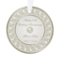 30th Wedding Anniversary Round Acrylic Ornament