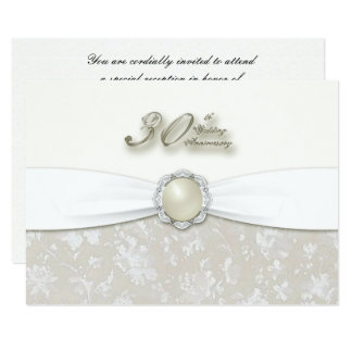 30th Wedding Anniversary RSVP Card