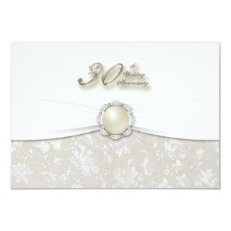 "30th Wedding Anniversary RSVP 3.5"" X 5"" Invitation Card"