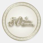30th Wedding Anniversary Sticker Round Sticker