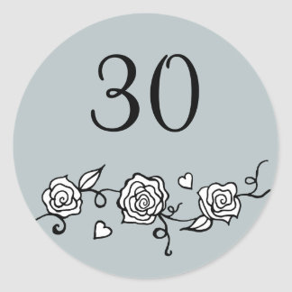 30th Wedding Anniversary Stickers