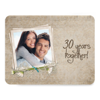 30th Wedding Anniversary Vow Renewal Card