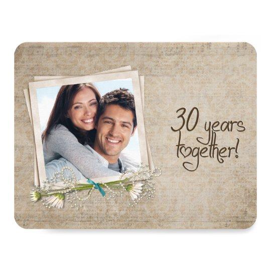 Wedding Anniversary Program Ideas: 30th Wedding Anniversary Vow Renewal Card
