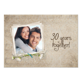 30th Wedding Anniversary Vow Renewal Custom Invite