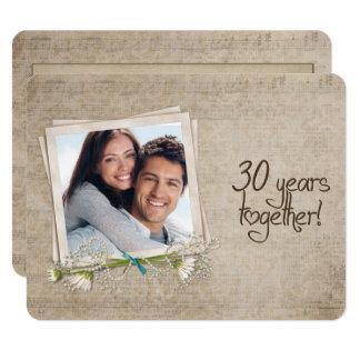 30th Wedding Anniversary Vow Renewal Invitation