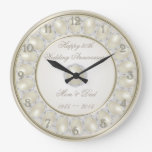30th Wedding Anniversary Wall Clock at Zazzle