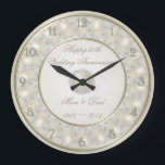 """30th Wedding Anniversary Wall Clock<br><div class=""""desc"""">A Digitalbcon Images Design featuring a Satin Pearl color design theme with a variety of custom images, shapes, patterns, styles and fonts in this one-of-a-kind &quot;30th Wedding Anniversary&quot; Wall Clock. This elegant and attractive design makes the ideal gift for the Anniversary Couple on the special occasion and comes complete with...</div>"""