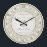 "30th Wedding Anniversary Wall Clock<br><div class=""desc"">A Digitalbcon Images Design featuring a Satin Pearl color design theme with a variety of custom images, shapes, patterns, styles and fonts in this one-of-a-kind &quot;30th Wedding Anniversary&quot; Wall Clock. This elegant and attractive design makes the ideal gift for the Anniversary Couple on the special occasion and comes complete with...</div>"