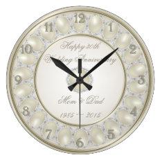 30th Wedding Anniversary Wall Clock at Zazzle