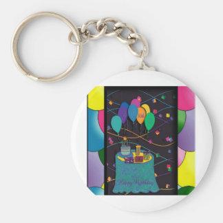30thsurprisepartyyinvitationballoons copy key chain