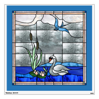 30x30 Nouveau Swan Window or Wall Decal
