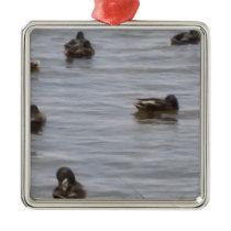 3101ducks metal ornament