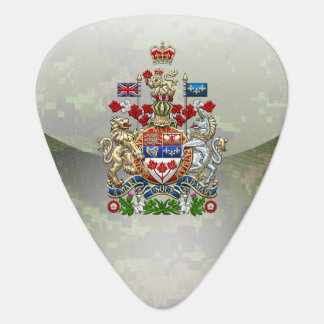 [310] Canada Coat of Arms [3D] Guitar Pick