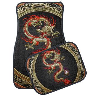 [310] Dragón chino de oro Fucanglong Alfombrilla De Auto