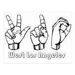 310- - Los Ángeles del oeste Postales