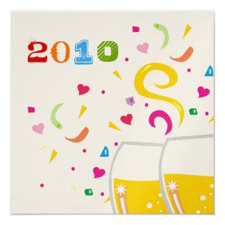 311-2010 la tostada al Año Nuevo invita al | Invitación 13,3 Cm X 13,3cm